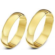 Alianças De Ouro Meia Cana 5mm 10 Gramas Ouro 18k Anatômicas