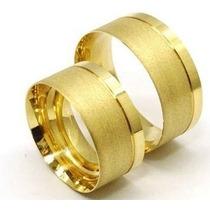 Par Aliança Moeda Antiga Casamento Noivado 7mm Cor Ouro Co41