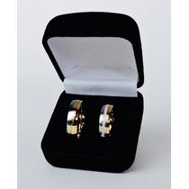 Aliança Casamento Banhada A Ouro 18k Unidade Zirconia 6mm