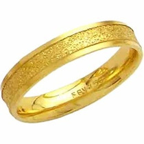 Aliança De Casamento Fosca Reta Trabalhada Ouro 18k-al118 Co