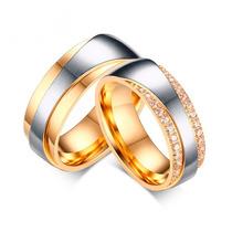 Aliança Dourada Prata Banho Ouro Bodas Casamento Noivado