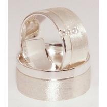Alianças De Namoro Em Prata 950 Frete 16gramas 10mm Largura