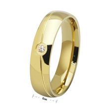 Par Aliança 6mm Banhada Folheada Ouro 18k Noivado Casamento
