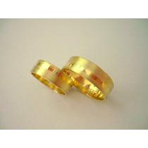 6g Promoção Par De Alianças 6mm 6 Grs Ouro 18k/750