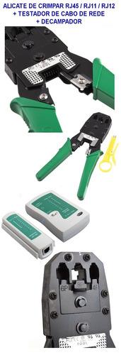 Alicate Crimpa Rj45/12/11 Multiuso + Testador + Descascador