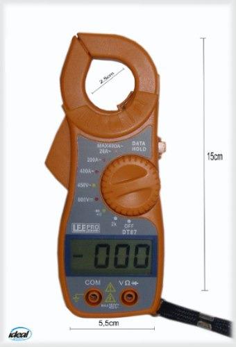 Alicate Multímetro Amperimetro Digital Aviso Sonoro +bateria