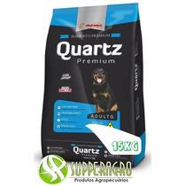 Ração Quartz Premium 15kg Sabor Bacon