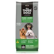 Ração Three Dogs Cães Adultos Raças Pequenas E Mini 3 Kg