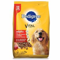 Ração Pedigree Carne, Frango E Cereais Para Cães Adultos 15k