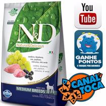 Ração Farmina N&d Canine Medium Cordeiro E Blueberry 10kg