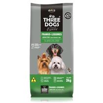 Ração Threedogs Cães Adultos Raças Pequenas 15 Kg
