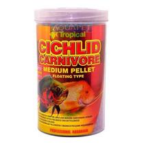 Ração P/ Peixe Cichlid Carnivore Medium Pellet 360g Tropical