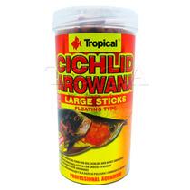 Ração Para Peixes Tropical Cichlid & Arowana Large Sticks