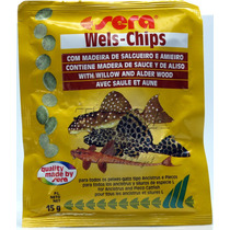 Ração Para Cascudos E Peixes De Fundo Sera Wells Chips 15gr