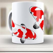 Caneca De Porcelana Carpa Red Koi, Nishikigoi, Xicara,#544