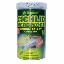 Ração Tropical Cichlid Herbivore Medium Pellet 500ml - 180gr