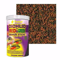 Tropical Cichlid Red & Green Medium Sticks 360gr