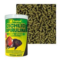 Ração Cichlid Spirulina Large Sticks Tropical - 300g