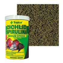 Ração Cichlid Spirulina Medium Sticks Tropical (90g)