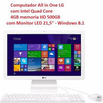 Computador All In One Lg Intel Quad Core Tela 21.5 Com Tv