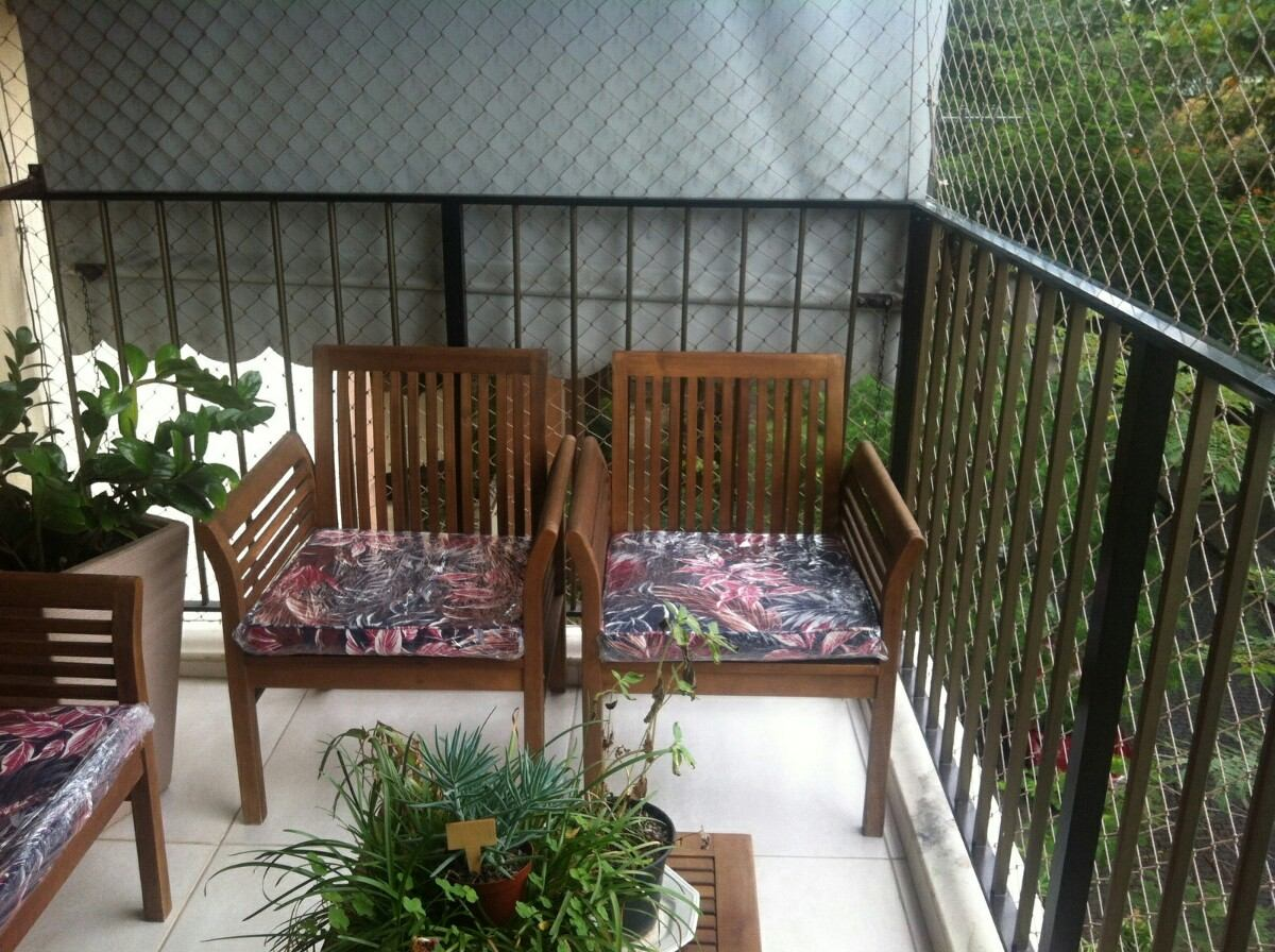 almofada futon impermeável para banco de madeira #644532 1200x896