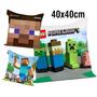 30 Almofadas 40x40 Lembrancinha Lego Minecraft