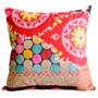 Almofada Arabescos E Poá Colorida Em Tecido - 45x45 Cm