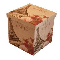 Puff Paris, Caixa, Multifuncional, Sala, Decoração, Quarto