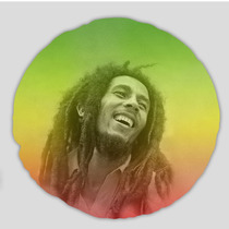 Almofada Redonda Reggae Bob Marley Colours 45cm