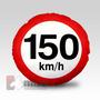Almofada Redonda 40cm Com Enchimento Placas Transito 150km/h