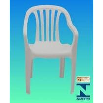 Cadeira Poltrona De Plastico Super Resistente Branca