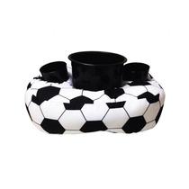 Almofada Porta Pipoca E Copos Futebol - 1 Balde E 2 Copos