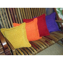 Kit C/ Manta Para Sofá Chenile E 2 Almofadas Decorativas