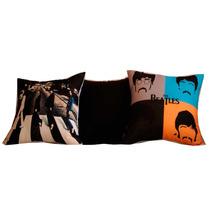 Kit 3 Almofadas Beatles 45x45 Cm Gagini Decorações