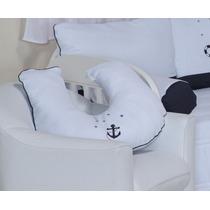 Almofada De Amamentação Urso Marinheiro Náutico Âncora Ac