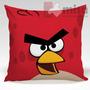 Almofada Angrybirds Red 35x35cm Com Zíper + Enchimento