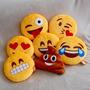 Almofada Pelucia Divertidas Emojis Whatsapp Smiles Cocozinho