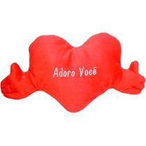 Almofada Coração Abraço Pq Com Frases Presente Namorados