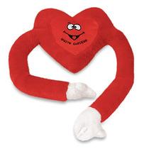 Coração Pelucia Carinho Almofada Vermelha 22x103cm Antialerg