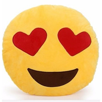 Almofada Pelúcia Travesseiro Emoticon Emoji Whatsapp Coração