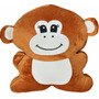Almofada Bicho Macaco Marrom Microperola Tipo Fom Supers
