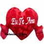 Coração De Pelúcia Com Braços - Eu Te Amo - 85 Cm