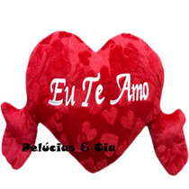 Coração De Pelúcia Com Braços - Eu Te Amo - 70 Cm