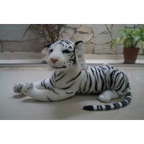 Tigre Branco Pelucia 60cm Safari Pelúcia Decoração Festa