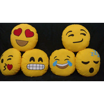 6 Almofadas Emoticons Emoji Do Whatsapp Presente Natal Kit 4