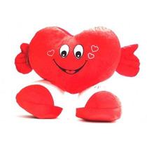 Coração De Pelúcia Com Pé Eu Te Amo Almofada Dia Namorados
