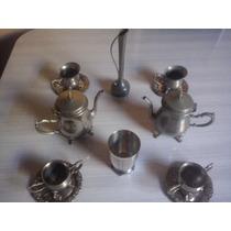 Conjunto De Chá E Café 8 Peças Em Alpaca