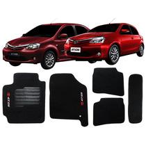 Tapete Carpete Etios Hatch/ Sedan Personalizado Com Bordado