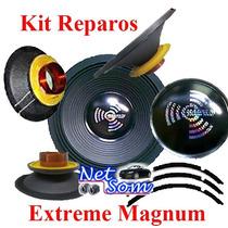 Kit Reparo Alto Falante Magnum 8 - 250 Rms - Woofer 4/8 Ohms
