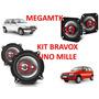 Kit Alto Falantes Traixiais Bravox P/ Uno Mille / Fire